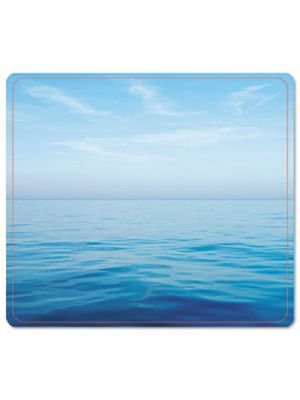 Recycled Mouse Pad, Nonskid Base, 7 1/2 x 9, Blue Ocean
