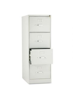 510 Series Four-Drawer Full-Suspension File, Legal, 52h x25d, Light Gray