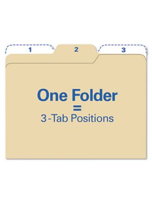Findit File Folders; 1/3 Cut; 11 Pt Stock; Letter; Manila; 80/Pack
