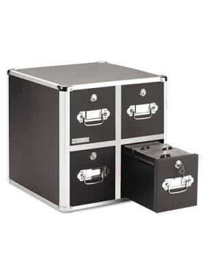 4-Drawer CD File Cabinet, Holds 660 Folders or 240 Slim/120 Standard Cases