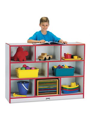 Rainbow Accents Single Storage Units, 48w x 15d x 35-1/2h, Red/Freckled Gray