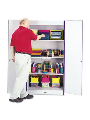 Rainbow Accents Deluxe Classroom Closet, 36w x 24d x 72h, Purple/Gray