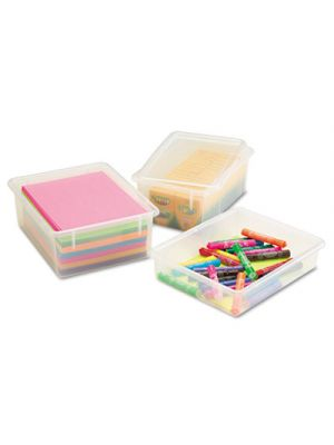 Cubbie Trays, 8-5/8w x 13-1/2d x 5-1/4h, Clear