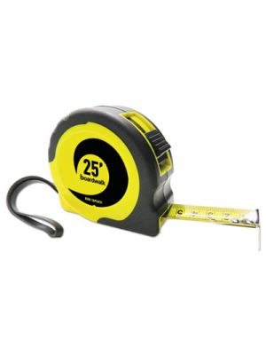 Easy Grip Tape Measure, 25 ft, Plastic Case, Black and Yellow, 1/16