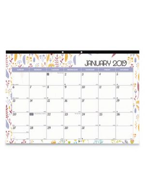 Monthly Desk Pad Calendar, 22 x 17, Spring, 2019