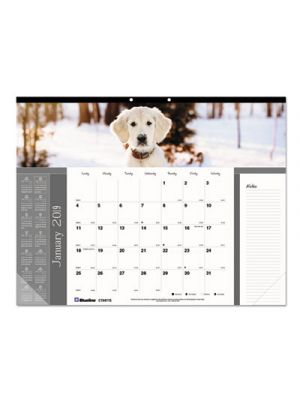 Pets Collection Monthly Desk Pad, 22 x 17, Dogs, 2019