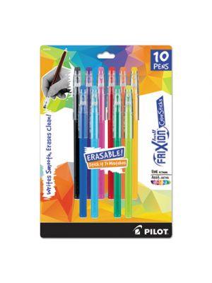 FriXion ColorSticks Erasable Gel Ink Pen, Fine, 0.7 mm, Assorted Ink, 10/PK
