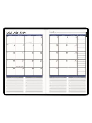 Productivity and Goal Planner, 6 1/4 x 9 1/4, Blue, 2019