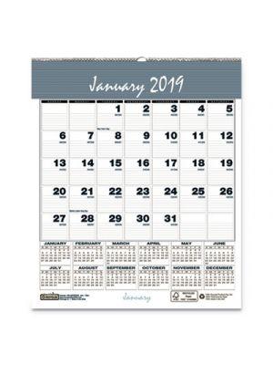 Bar Harbor Wirebound Monthly Wall Calendar, 6 x 7, Blue, 2019