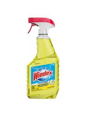 Multi-Surface Disinfectant Cleaner, Lemon Scent, 23 oz Spray Bottle, 8/Carton
