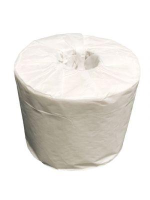 100% Recycled Fiber Bathroom Tissue, 1-Ply, 550 Sheets/Roll, 80 Rolls/Carton