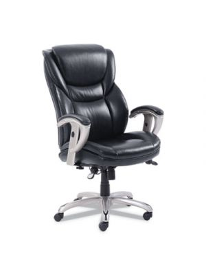 Emerson Executive Task Chair, 22 1/4w x 22d x 22h Seat, Black Leather
