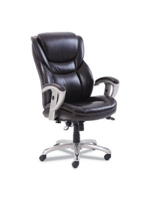 Emerson Executive Task Chair, 22 1/4w x 22d x 22h Seat, Brown Leather