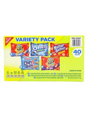 Mini Snack Packs, 1 oz, Variety Pack, 40 per Carton