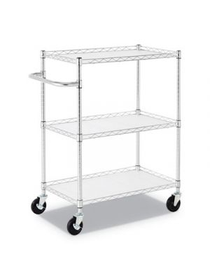 3-Shelf Wire Cart with Liners, 34 1/2