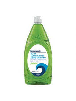 Ultra Concentrated Antibacterial Liquid Dish Soap, Crisp Green Apple, 40oz, 6/CT