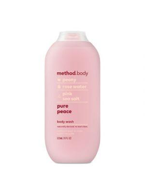 Womens Body Wash, 18 oz, Peony/Rose Water/Pink Sea Salt, 6/Carton