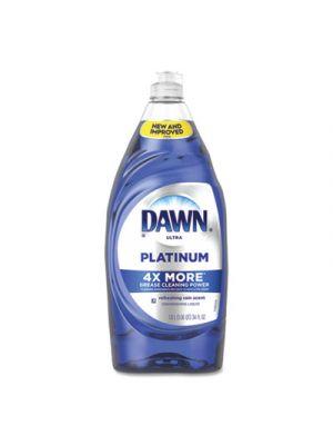 Ultra Platinum Dishwashing Liquid, Refreshing Rain, 34 oz Bottle, 8/Carton