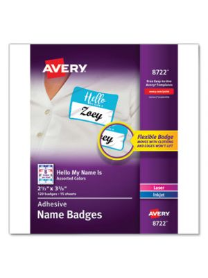 Flexible Adhesive Name Badge Labels,