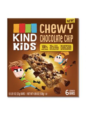 Kids Bars, Chewy Chocolate Chip, 0.81 oz, 6/Pack