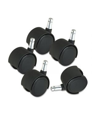 Deluxe Duet Casters, Nylon, B and K Stems, 110 lbs./Caster, 5/Set