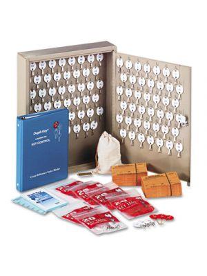 Dupli-Key Two-Tag Cabinet, 90-Key, Welded Steel, Sand, 14 x 3 1/8 x 17 1/2