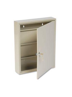 Uni-Tag Key Cabinet, 80-Key, Steel, Sand, 14 x 3 1/8 x 17 1/8