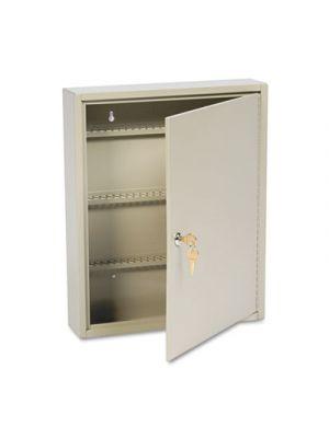 Uni-Tag Key Cabinet, 110-Key,Steel, Sand, 14 x 3 1/8 x 17 1/8