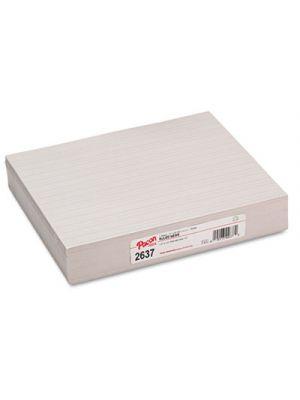 Skip-A-Line Ruled Newsprint Paper, 30 lbs., 11 x 8-1/2, White, 500 Shts/Pack
