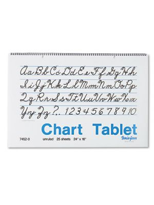 Chart Tablets, Unruled, 24 x 16, White, 25 Sheets