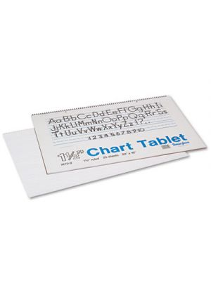 Chart Tablets w/Manuscript Cover, Ruled, 24 x 16, White, 25 Sheets