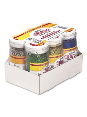 Spectra Glitter, .04 Hexagon Crystals, Assorted, 4 oz Shaker-Top Jar, 6/Pack