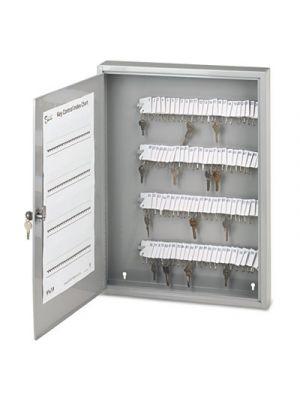 Locking Key Cabinet, 100-Key, Steel, Gray, 16 1/2 x 3 x 22 1/2