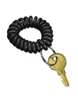 Wrist Key Coil Wearable Key Organizer, Flexible Coil, Black