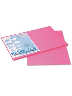Tru-Ray Construction Paper, 76 lbs., 12 x 18, Shocking Pink, 50 Sheets/Pack