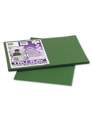 Tru-Ray Construction Paper, 76 lbs., 12 x 18, Dark Green, 50 Sheets/Pack