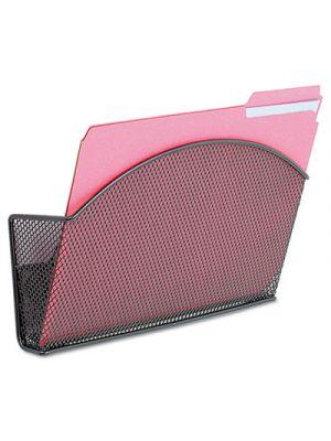 Onyx Magnetic Mesh Panel Accessories, Single File Pocket, Black