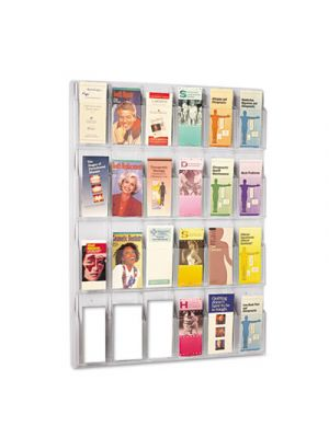 Reveal Clear Literature Displays, 24 Compartments, 30w x 2d x 41h, Clear