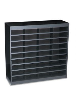 Steel/Fiberboard E-Z Stor Sorter, 36 Sections, 37 1/2 x 12 3/4 x 36 1/2, Black