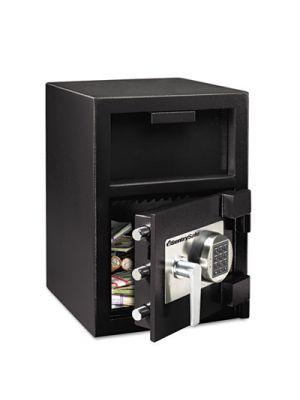 Digital Depository Safe, Extra Large, 1.3 ft3, 14w x 15 3/5d x 24h, Black