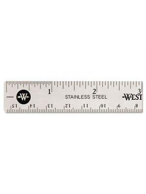 Stainless Steel Office Ruler With Non Slip Cork Base, 6