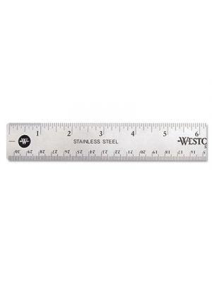 Stainless Steel Office Ruler With Non Slip Cork Base, 12