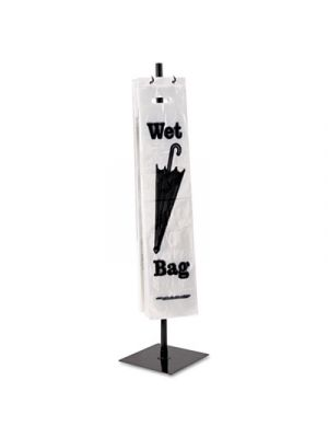 Wet Umbrella Bag Stand, Powder Coated Steel, 10w x 10d x 40h, Black