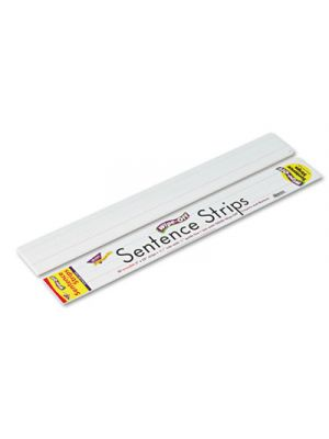 Wipe-Off Sentence Strips, 24 x 3, White, 30/Pack