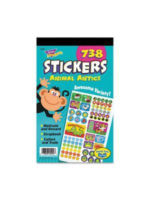 Sticker Assortment Pack, Animal Antics, 738 Stickers/Pad