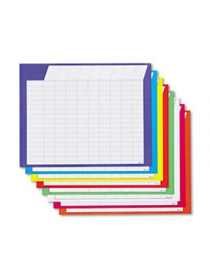 Horizontal Incentive Chart Pack, 28w x 22h, Assorted Colors, 8/Pack