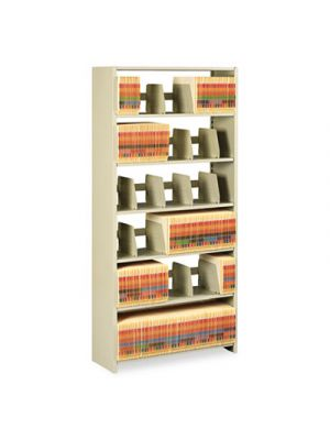 Snap-Together Steel Six-Shelf Closed Starter Set, 36w x 12d x 76h, Sand