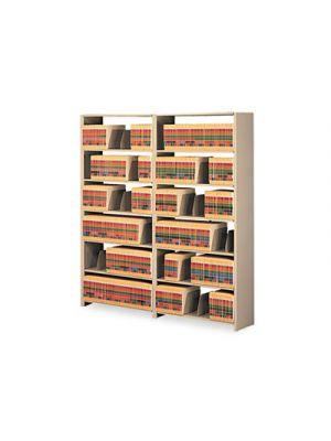 Snap-Together Steel Seven-Shelf Closed Starter Set, 48w x 12d x 88h, Sand