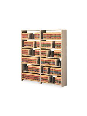 Snap-Together Steel Seven-Shelf Closed Starter Set, 36w x 12d x 88h, Sand