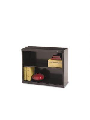 Metal Bookcase, Two-Shelf, 34-1/2w x 13-1/2d x 28h, Black